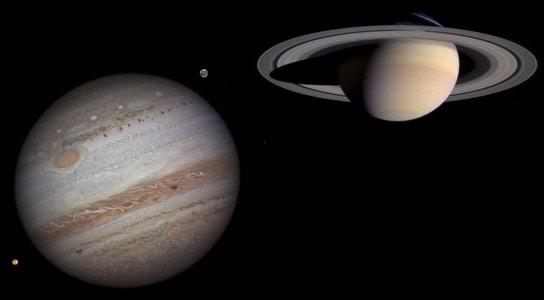 Jupiter Saturn