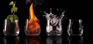 4 elementos vasos