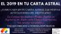 TALLER: EL 2019 EN TU CARTA ASTRAL. Con informaciónpersonalizada