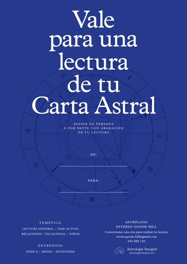 Vale Regalo Lectura Carta Astral