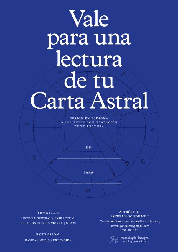 Vale Regalo Lectura Carta Astral